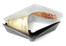 Korruptionskonzept mit Umschlag, Geld, Geldbörse Lizenzfreie Stockbilder