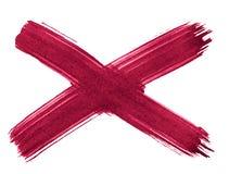 Kors X - abstrakt bakgrund för persisk röd vattenfärg, fläck, färgstänkmålarfärg, fläck, skilsmässa royaltyfri illustrationer
