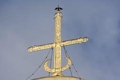 Kors av domkyrkan av St Demetrius av Vladimiro-Suzdalsky Ryssland Royaltyfri Foto
