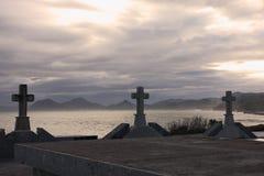 kors Cementery Arkivfoton