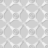 kors Dot Frame för kontroll för runt hörn för konst för vitbok 3D stock illustrationer