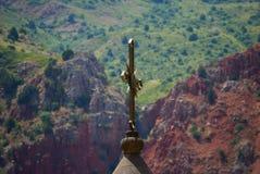 Kors eller khach av den Surb Astvatsatsin kyrkan av det Noravank komplexet i det Vayots Dzor landskapet, Armenien royaltyfri fotografi