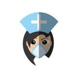 kors för lock för kvinnlig maskering för doktor medicinskt stock illustrationer