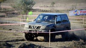 Kors 4x4 för Moldavien Ohei jeepförsök Arkivfoton