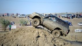 Kors 4x4 för Moldavien Ohei jeepförsök Royaltyfri Bild