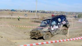 Kors 4x4 för Moldavien Ohei jeepförsök Royaltyfri Fotografi