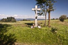 Kors i berg Royaltyfri Bild