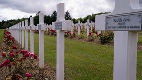 Kors i den Verdun kyrkogården Royaltyfri Foto