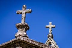 Kors i himlen Fotografering för Bildbyråer