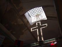 Kors i Jerusalem ` s Christian Quarter Arkivbilder
