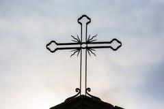 Kors i kontur Fotografering för Bildbyråer
