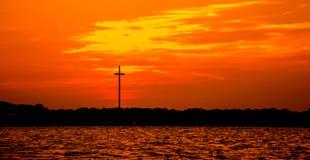 Kors i oklarheterna Fotografering för Bildbyråer