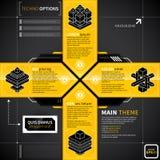 Kors i technostilar som göras av 4 baner Royaltyfri Bild