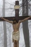 Kors Jesus och de två tjuvarna på calvaryen Internationella Shri Arkivbild
