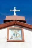 Kors med Mary Portrait Royaltyfri Foto