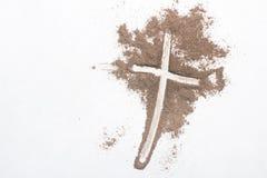 Kors och aska - Ash Wednesday fotografering för bildbyråer