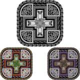 Kors och celtic en prydnad Arkivfoto