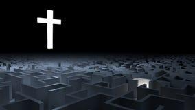 Kors och labyrint Arkivfoto