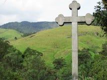 Kors på berg Fotografering för Bildbyråer