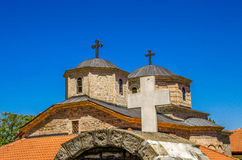 Kors på den Slepce kloster, Demir Hisar, Makedonien Arkivfoton
