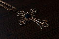 Kors på en svart bakgrund Royaltyfria Bilder