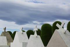 Kors på kyrkogården av puntaareans i chile royaltyfri fotografi