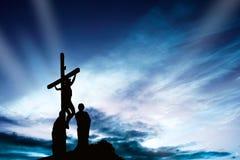 Kors på solnedgången Royaltyfria Foton