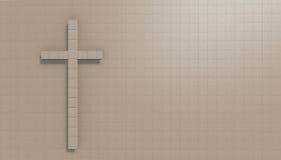 Kors på väggen Arkivfoto