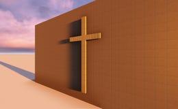 Kors på väggen Royaltyfria Foton