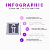 Kors påsk, ferie, för symbolsInfographics 5 för tecken fast bakgrund för presentation moment stock illustrationer