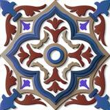 Kors p för kurva för modell för sömlös lättnadsskulpturgarnering retro royaltyfri illustrationer