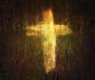 Kors på grungebakgrund Royaltyfri Bild