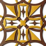 Kors s för kurva för modell för sömlös lättnadsskulpturgarnering retro vektor illustrationer