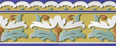 Kors s för kurva för modell för sömlös lättnadsskulpturgarnering retro royaltyfri illustrationer