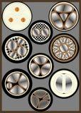 Kors-sektions- kabel Arkivbild