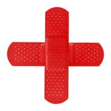kors som bildar röda lappar arkivbilder