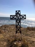 Korsa över havet royaltyfria bilder