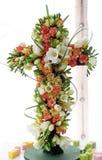 Korsa blommor som är utsatta på Floraart, trädgårds- utställning för international 52 på sjön Bundek i Zagreb Arkivfoto