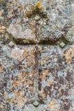 Korsa i sten Fotografering för Bildbyråer