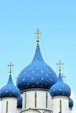 Korsa och koppla ihop på domkyrkan av Kreml Royaltyfri Fotografi