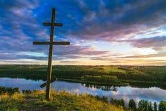 Korsa på kullen Arkivfoton