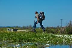 Korsa strömmen Fotografering för Bildbyråer