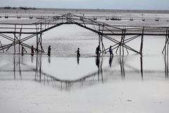 Korsa under havbron Fotografering för Bildbyråer