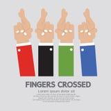 Korsade fingrar vektor illustrationer