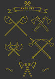 Korsade stridyxor Arkivfoto
