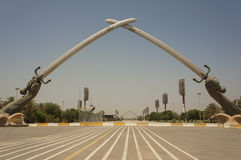 Korsade svärd i Baghdad Royaltyfri Fotografi