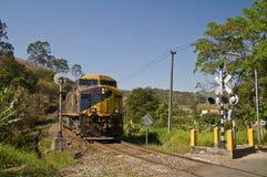 korsande järnväg Royaltyfria Bilder