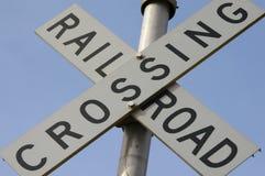 korsande järnväg Arkivfoto