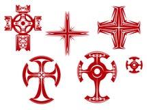 korsar klosterbroder stock illustrationer