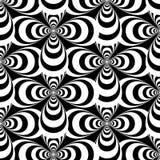 Korsar svartvitt abstrakt begrepp för vektorn den sömlösa modellen Royaltyfri Fotografi